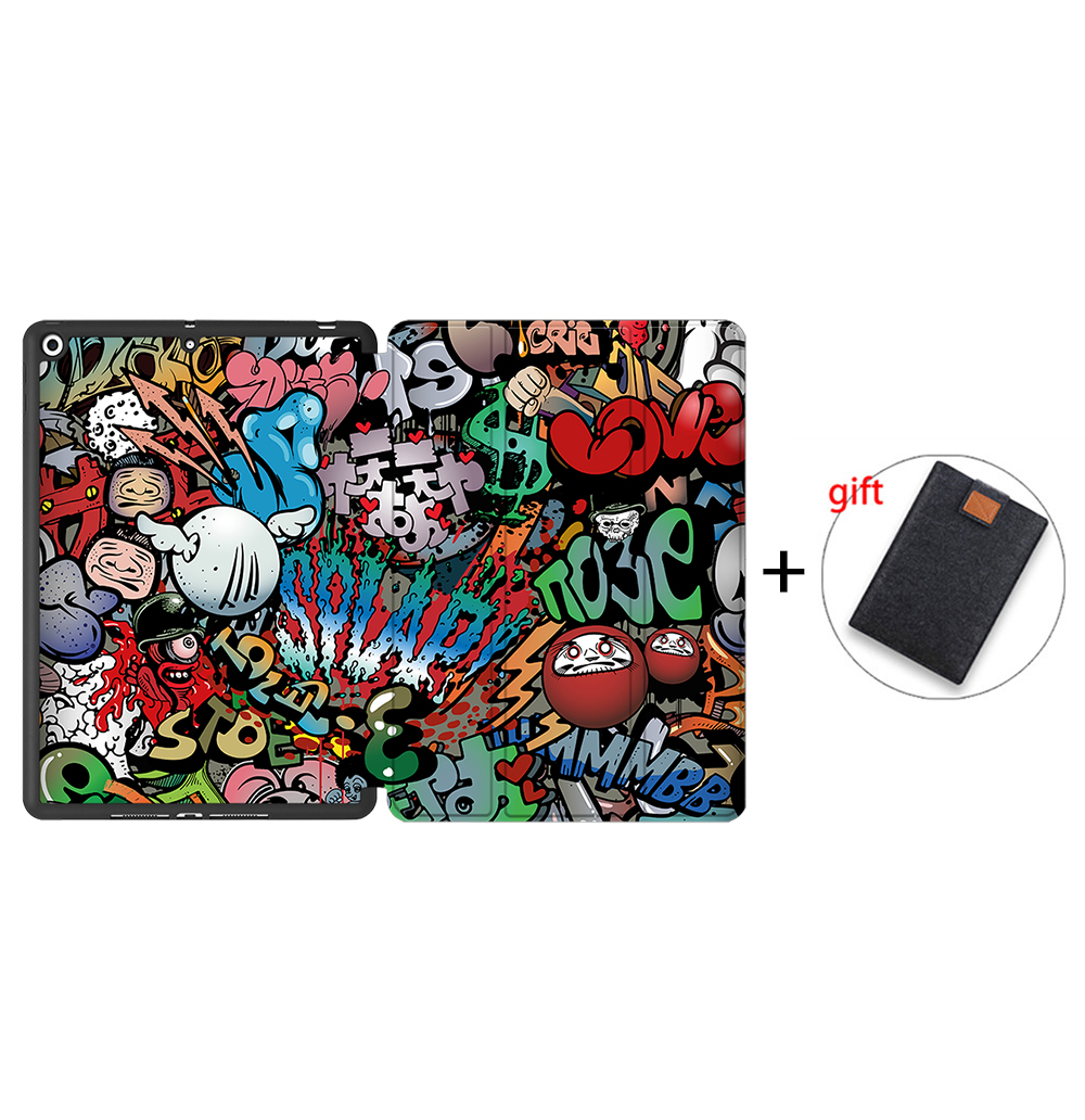 IPBC12 Orange MTT Tablet Case For iPad 10 2 inch 7th 8th Generation 2020 Soft TPU PU Leather
