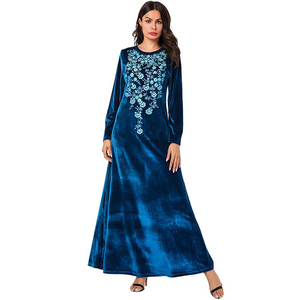 Dubai Muslim Velvet Dress Women Kaftan Kimono Jubah Long Robe Abaya Hijab Dresses Elegant Islamic Clothing Turkey Arabic Dress