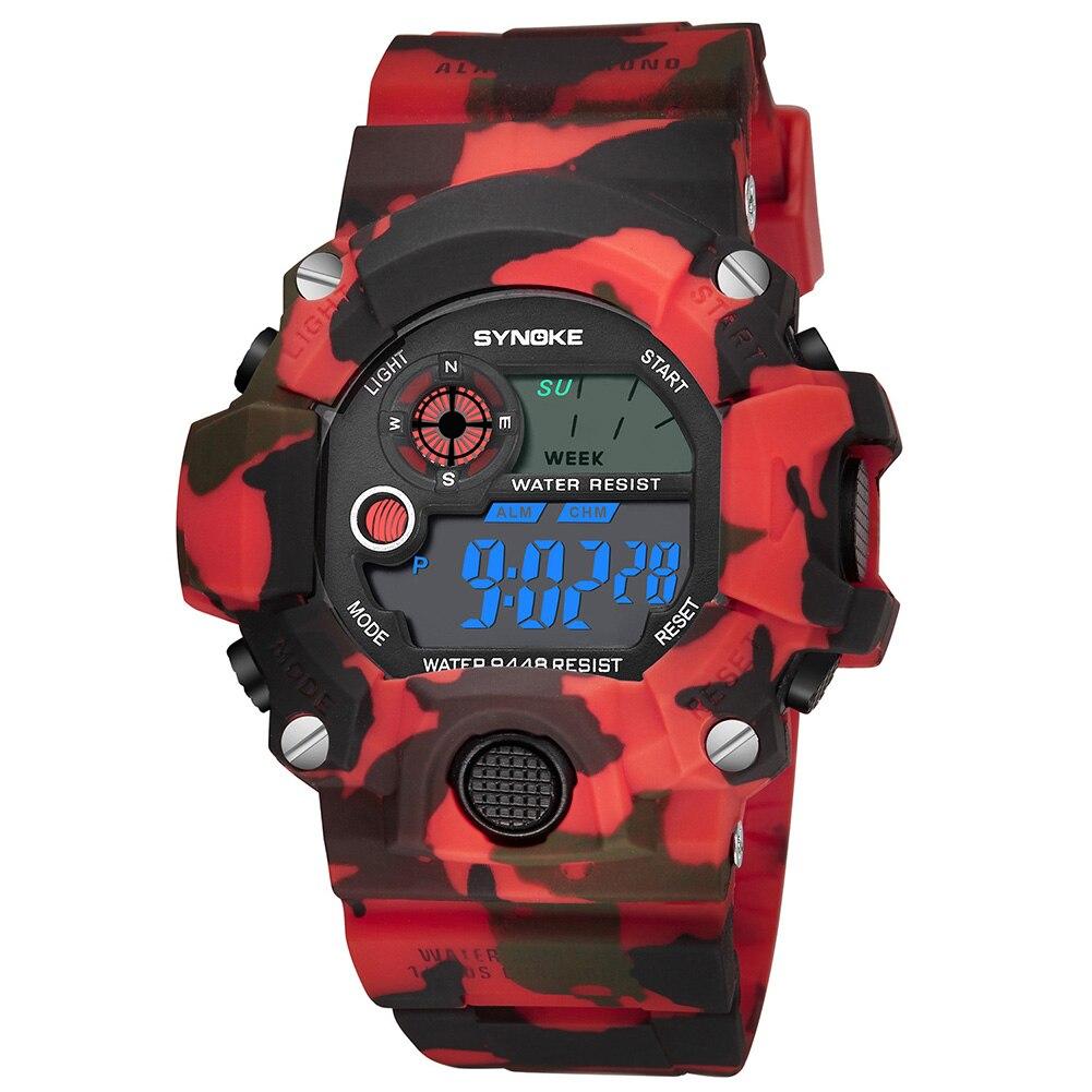 Men Women ABS UV Military Watches Fabala Digital Waterproof Casual Multifunctional Sport Camouflage Wrist Watch Electronic Watch