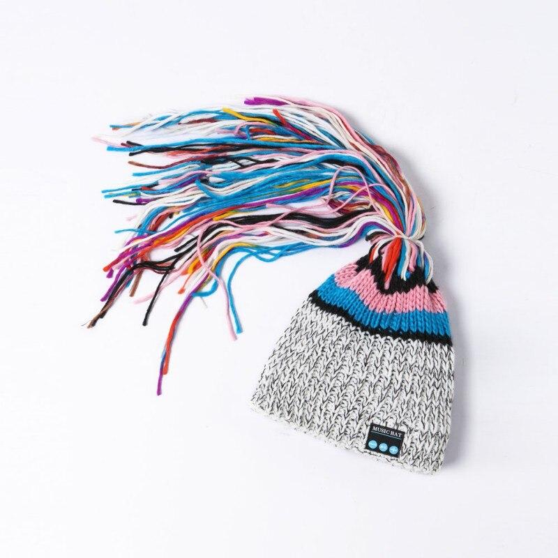 Bluetooth Hat Unisex Women Men Soft Warm Wireless Earphone M Memory Card