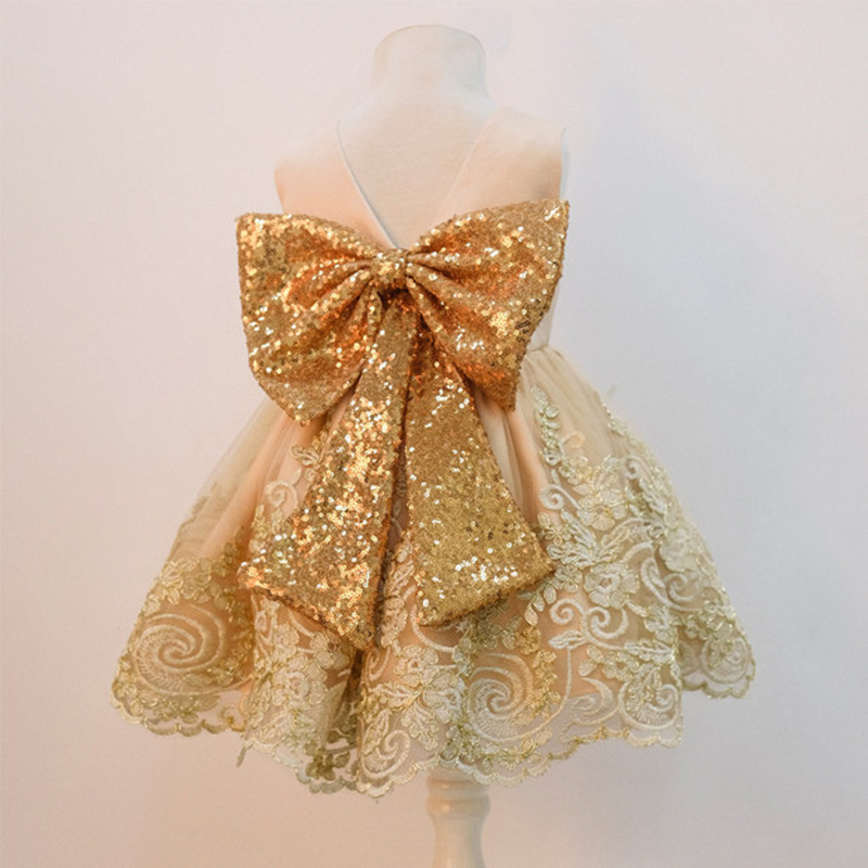 Spanish Girls Dresses Princess Dress Cute Lace Flower Girl Bow Dress Girl Dresses Summer 2019