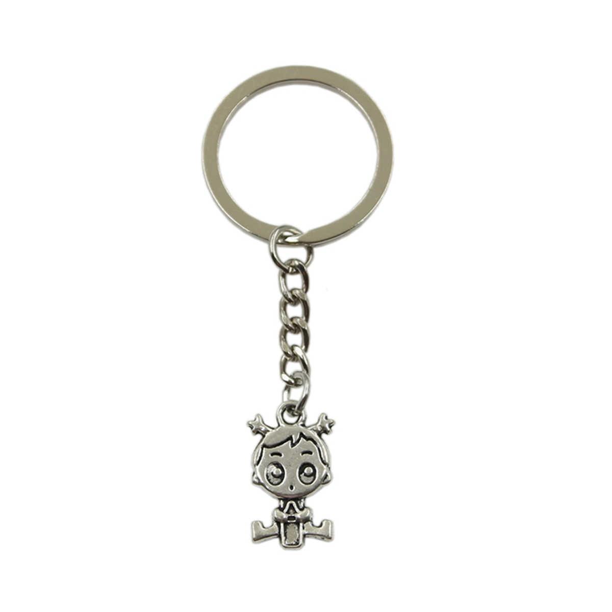 سعر المصنع طفلة قلادة حلقة رئيسية سلسلة معدنية الفضة الرجال سيارة هدية تذكارية المفاتيح دروبشيبينغ