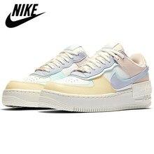 Zapatillas deportivas Air Force 1 para mujer, zapatos de Skateboarding, Air Force 1 Shadow AF1 Low One, color marfil pálido Pastel Sail abeto Aura
