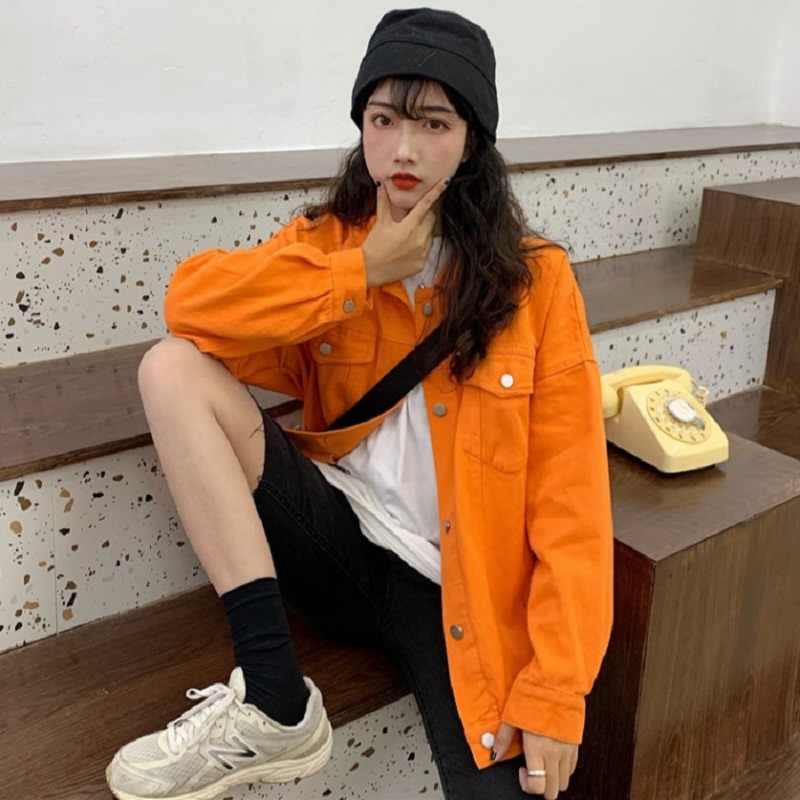Oranje Jazz Dance Tops Vrouwen Mode Hip Hop Street Dance Rave Outfit Ins Street Wear Hiphop Jas Prestaties Kleding DCC034