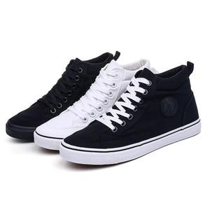 Image 2 - Zapatos de lona para hombre, calzado informal deportivo para exteriores, mocasines planos vulcanizados de alta calidad, moda estudiantil para adultos