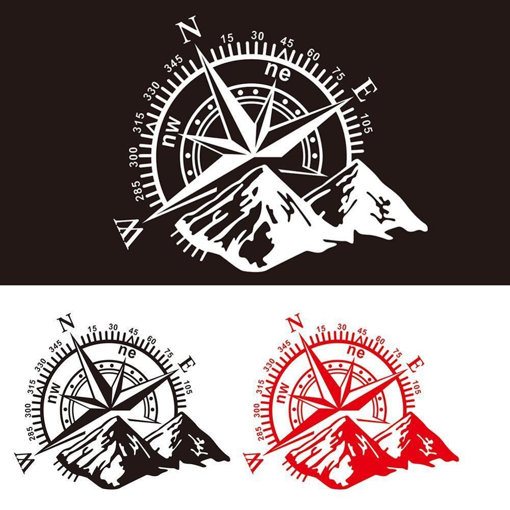 Universal 1pcs 3D High Quality Car Sticker Compass Rose Navigate Mountain 4x4 Offroad Vinyl Sticker Decal Car Decal