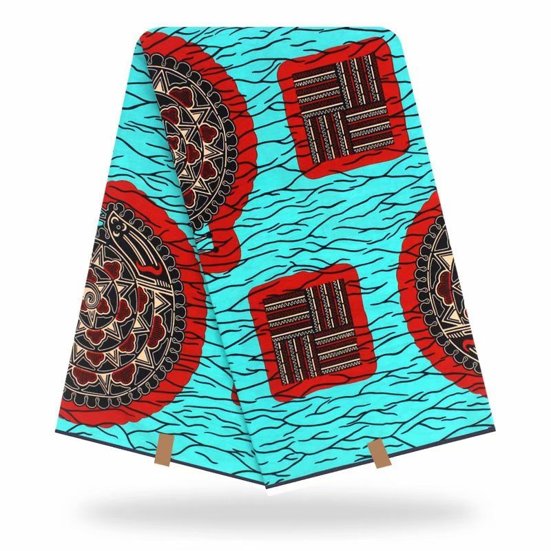 African Wax Fabric Cotton Print Wax Fabric Africa Prints Fabric 100% Cotton High Quality Sewing Dress Material 6yards