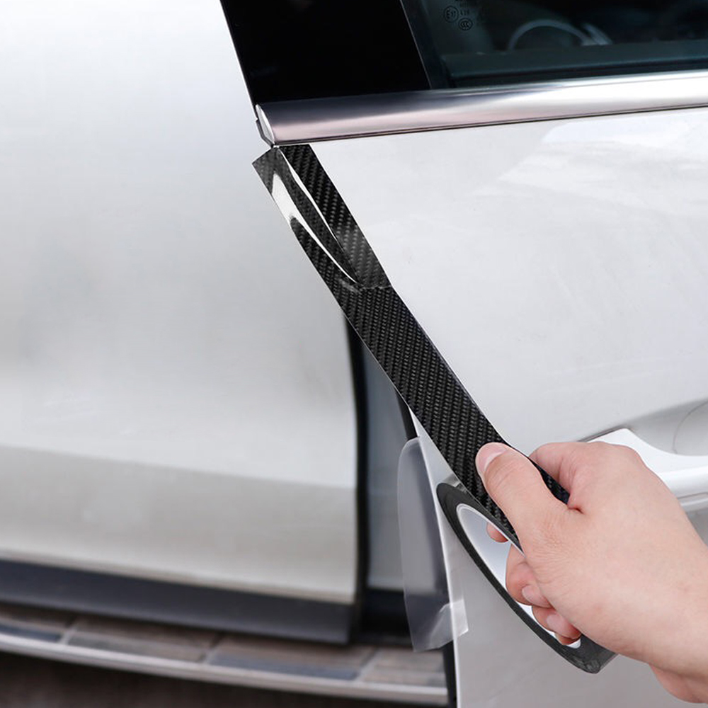 Traceless Nano Carbon Fiber Tape Car Center Console Door External Adhesive Sticker Universal For <font><b>BMW</b></font> <font><b>F01</b></font> F10 F11 E60 <font><b>Accessories</b></font> image