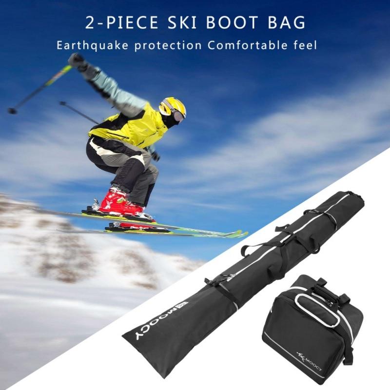 Комплект сумок для лыж и ботинок-подходит для лыж до 200 см и ботинок до США, размер 13, рюкзак для сноуборда, сумка для лыжных ботинок, водонепроницаемая сумка для лыж