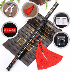 Alta qualidade flauta de bambu chinês tradicional música instrução flauta de madeira com borla c d e f g chave transversal flauta