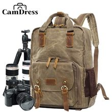 CamDerss Batik Canvas Waterproof camera Bag Outdoor Wear-resistant Camera Backpack National Geographic bag pack рюкзак