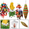 1Pc Wooden Parrot Toy Birds Colorful Large Chewing Hanging Cage Toy Parakeet Cockatiel Budgie Play Toy Pet Bird Supplies