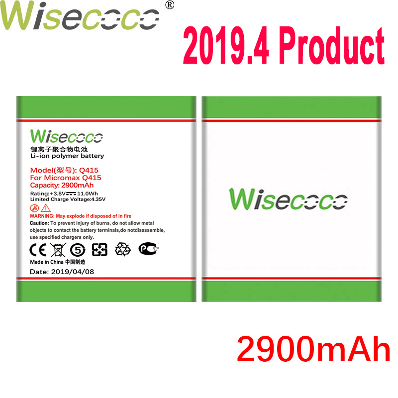 WISECOCO 2900mAh Q415 Battery For Micromax Q415 Mobile Phone In Stock Latest Production High Quality Battery+Tracking Number