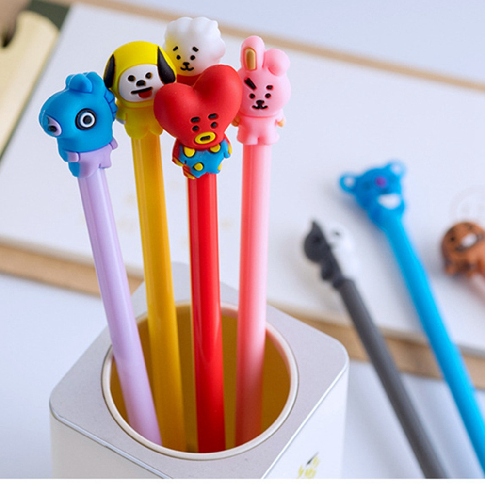 40 Pcs Stationery Cartoon Dog Gel Pen Ink Gift Prizes Office Supplies Student Test Pen Kawaii Pen  Cute Kawaii Pen  Stationery