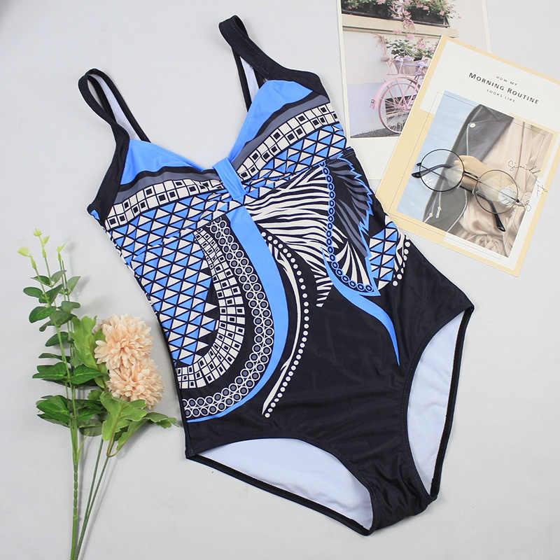 Costumi da bagno donna 2020 costume da bagno intero Push Up costume da bagno Sexy donna nuoto per abbigliamento da spiaggia Monokini costumi da bagno taglie forti 3XL