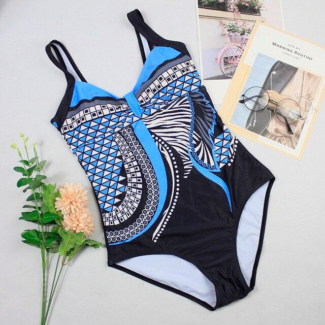 Swimwear Women 2019 One Piece Swimsuit Push Up Sexy Bathing Suit Women Swimming for Beach Wear Monokini Plus Size Swimwear 3XL 8