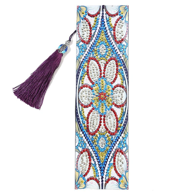 DIY Diamond Painting Leather Tassel Book Marks Special Shaped Diamond Embroidery L41E