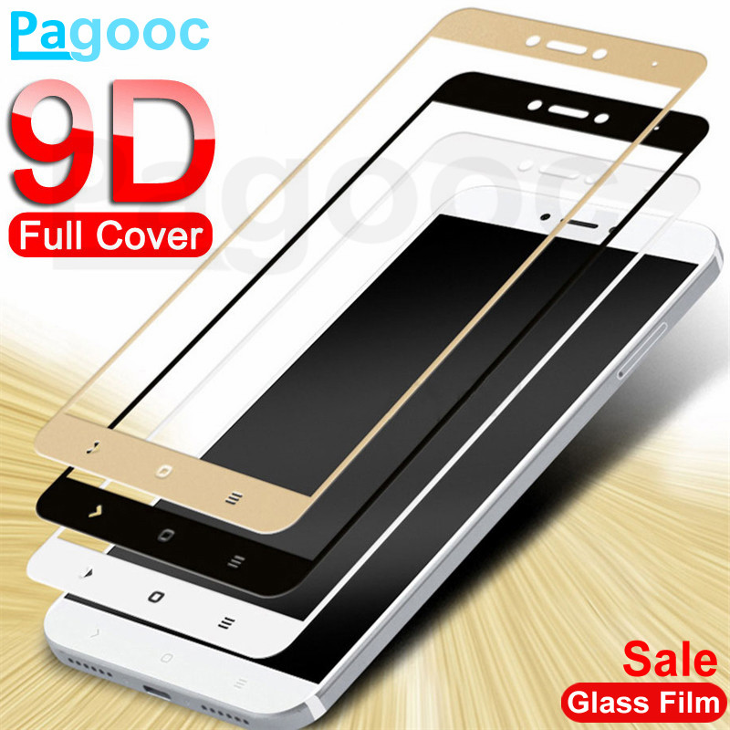 9D Tempered Glass On For Xiaomi Redmi Note 4 4X 5 5A Pro Screen Protector Safety Glass On The Redmi 4A 4X 5A 5 Plus S2 Film Case