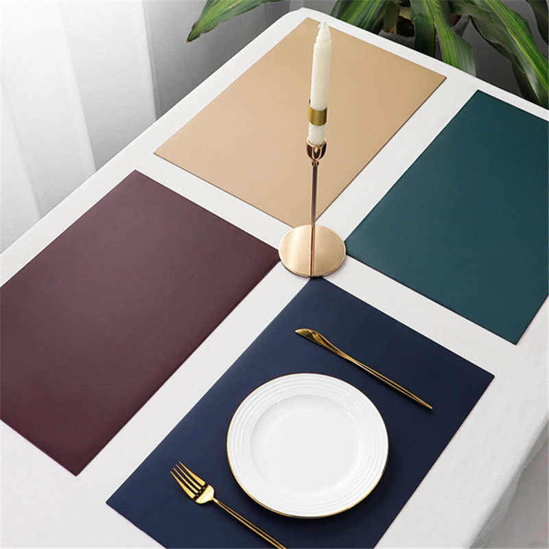 Leather Rectangle Coaster Stand Hot Dining Placemat For Table Pads Heat Resistant Drink Holder Cup Pad Mantel Individual Mat Mats Pads Aliexpress