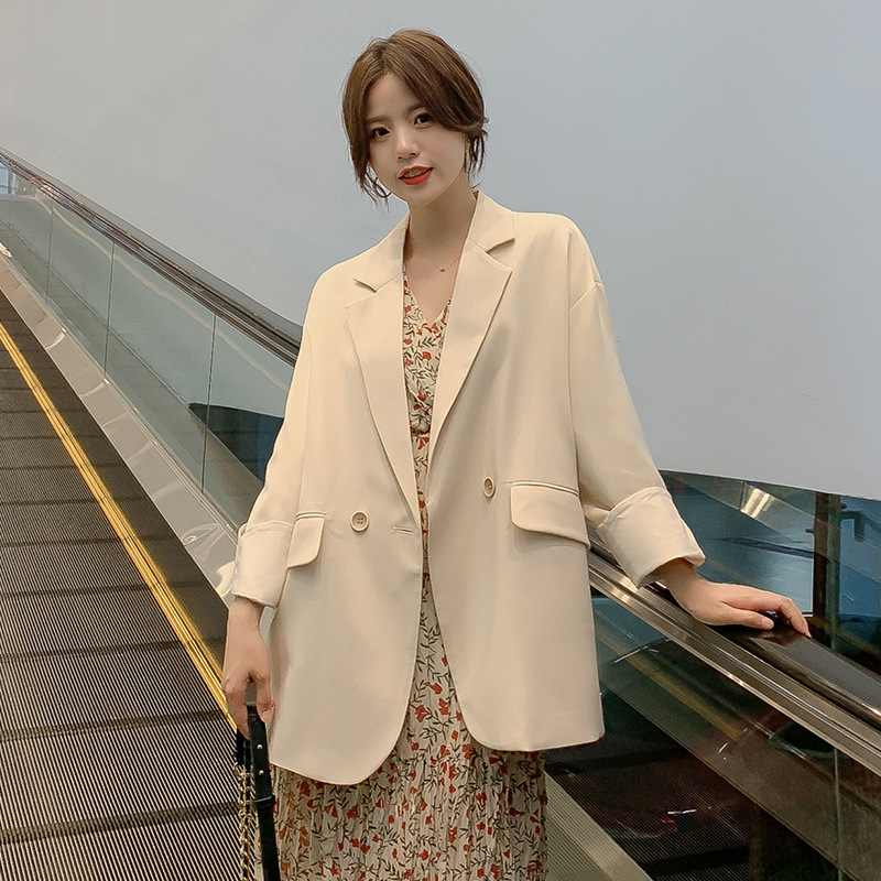 Casual Business Professional Ladies Blazer 2019 Autumn New Long-sleeved Large Size Jacket Female Loose Interview Office Suit