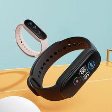 M4 relógio inteligente de fitness trcker esporte pulseira inteligente pedômetro freqüência cardíaca pressão arterial bluetooth wirstband banda inteligente