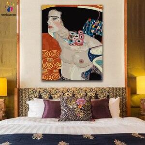 DIY картинки для раскраски по номерам с цветами Густава Климта Саломе картина для рисования по номерам в рамке дома