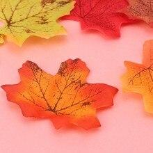 Mieszane kolory sztuczne liście klonu żywe zdjęcie Prop dekoracje dla wielu palces 67JB