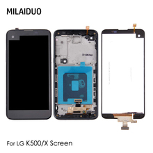 LCD Display For LG X Screen K500DS K500N Touch Screen Digitizer LCD For LG K500 Assembly Replacement Black No/with Frame black color replacement parts for lg g3 stylus d690 lcd display screen with touch digitizer with frame 1 piece free shipping