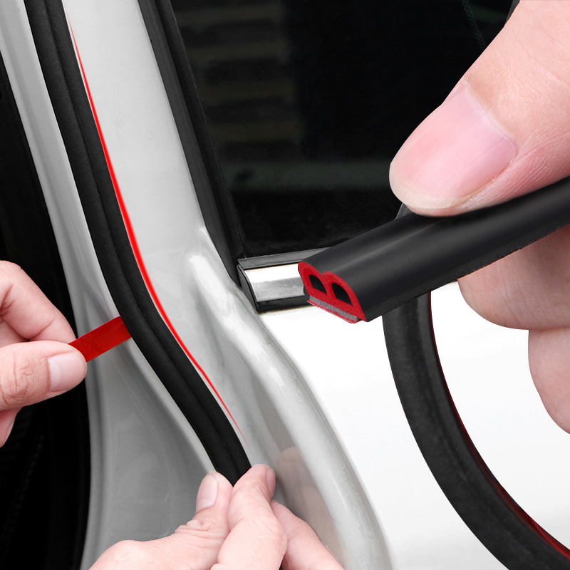 Car-styling 4 Meters B Type Car Door Sealing Strips Noise Insulation Windproof For Mazda SEAT Subaru Chevrolet Opel Hyundai Etc.