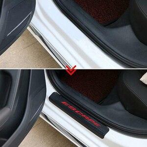 Image 4 - Auto Tür Willkommen Pedal Film Aufkleber für FORD ESCAPE Carbon Faser Anti Scratch Keine Slip Tür Sill Schutz Innenverschleißplatten türschwellerverkleidungen aufkleber
