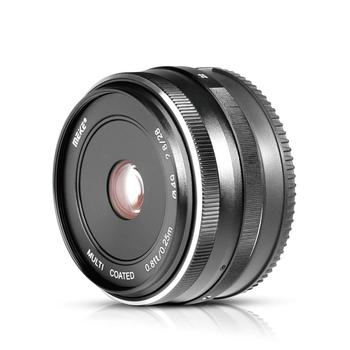 Meike 28mm f/2.8 Manual Focus Fixed Lens for Sony E Mount Digital Cameras NEX3/5/6/7/A5000/A5100/A6000/A6100 and A6300+Free Gift