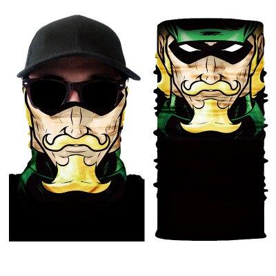 Motorcycle Face Mask Cool Robot Skeleton Halloween Mask Scarf Joker Headband Balaclavas For Cycling Fishing Ski Motorcycle