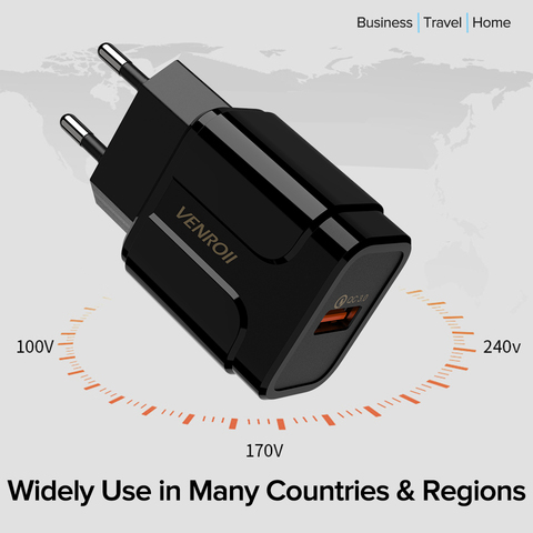 5V 3A Universal 18W USB Quick Charge 3.0 for Huawei Xiaomi EU US Wall Adapter Android Mobile Phone Fast Charger for Samsung S10 Multan