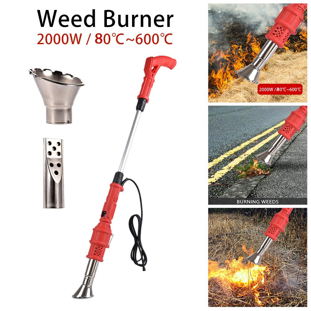 2000W Weed Burner Electric Thermal Weeder Hot Air Weed Killer Grass Flame Of Garden Tool