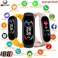 2021 M6 Smart Bracelet Watch Fitness Tracker Smartband cardiofrequenzimetro Smart Band per XIaomi iOS Android Phone