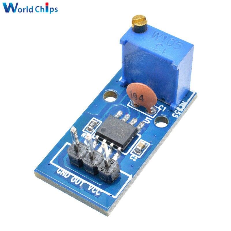 NE555 Adjustable Resistnce Frequency Pulse Generator Module For Arduino Smart Car 5V-12V Single Channel Output Module 29*12mm