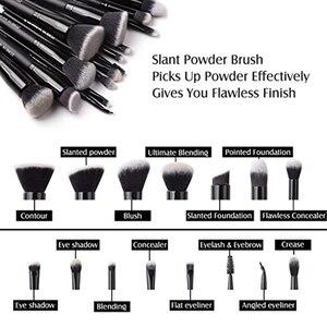 Image 5 - Бренд Zoreya , 15 шт ., черные кисти для макияжа, набор теней для век, пудра, кисть для основы, для макияжа, лучший растущий консилер , косметические инструменты