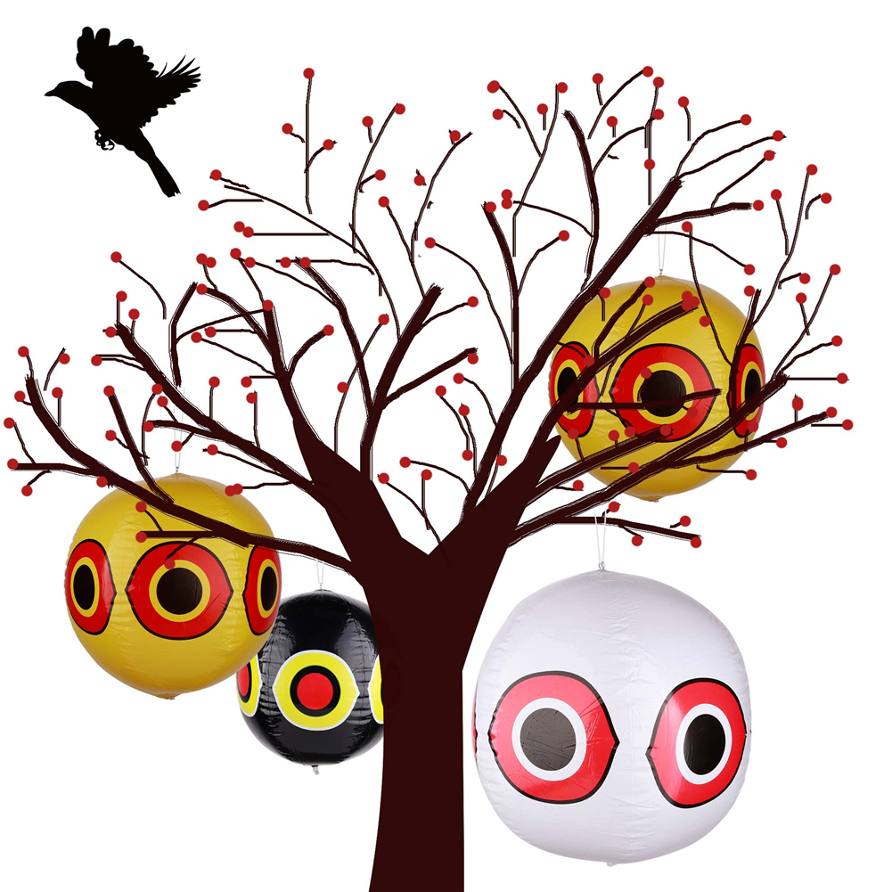 Bird Repellent Scare Eye Balloons Garden Laser Reflective Fake Owl Hanging Scarecrow Scares Bird Pigeons Woodpecker Terror-Eyes