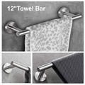 Набор из 3 предметов  аксессуары для ванной комнаты  Круглый настенный держатель из нержавеющей стали-включает в себя держатель для полотен...