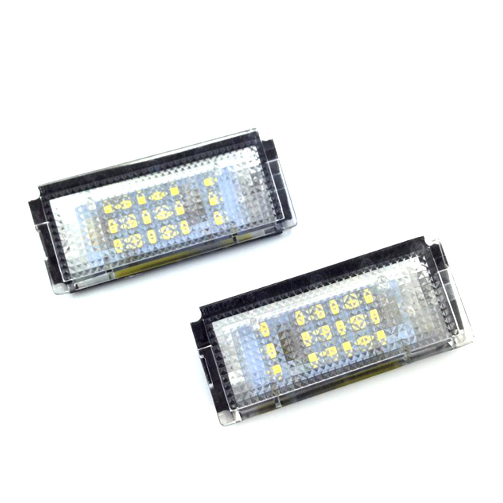 1Pair LED Car LED License Plate Light Auto Cars Number Plate Lamp Signal Light For BMW E46 4D (98-03) Car Styling