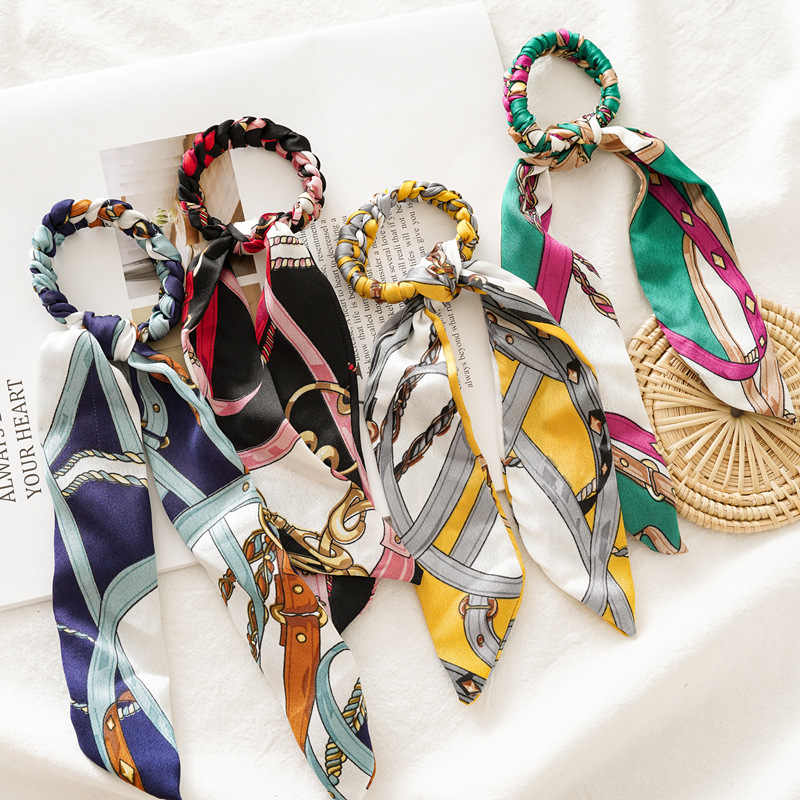 Korean Sweet Hair Rope Ties For Girls Women Ponytail Holder Hair Rings Hair Accessories New Knotted Plaid Elastic HairBands sunn