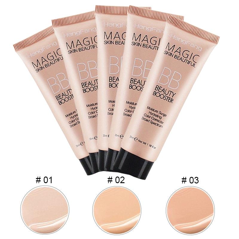Long-lasting Base da Fundação BB Creme Facial Primer Maquiagem Make Up Foundation Corretivo de Longa Duração de Clareamento Cosméticos Coreano