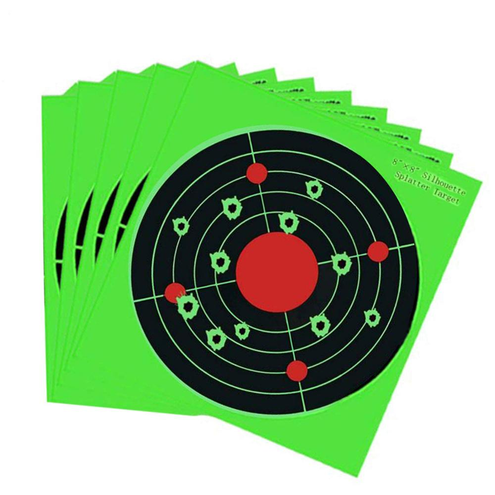 Paper Shooting Target - Reactive Silhouette Bullseye Splatter Targets - See Your Hits Instantly - Hunting Targets  Splash Target