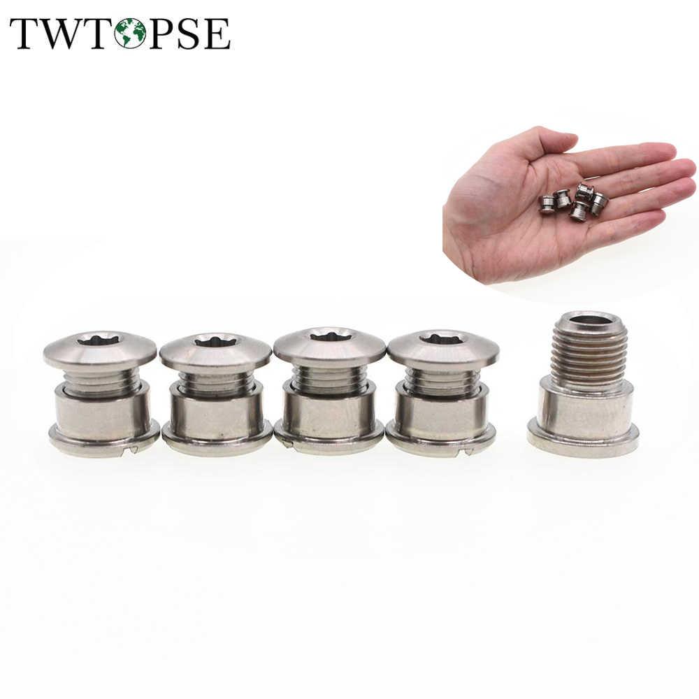 Titanium Singlespeed Chainring Bolts — SS Ti Chain Ring Nuts Track Fixie — 5pcs