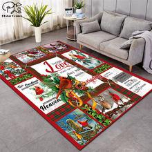 Модные мягкие фланелевые коврики с 3d рисунком рождественской
