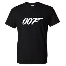 Trendy Verão 007 T-shirt Das Mulheres Dos Homens de Cor Sólida Impresso Streetwear Tshirt Da Moda James Bond Algodão Hip Hop T shirt Tops