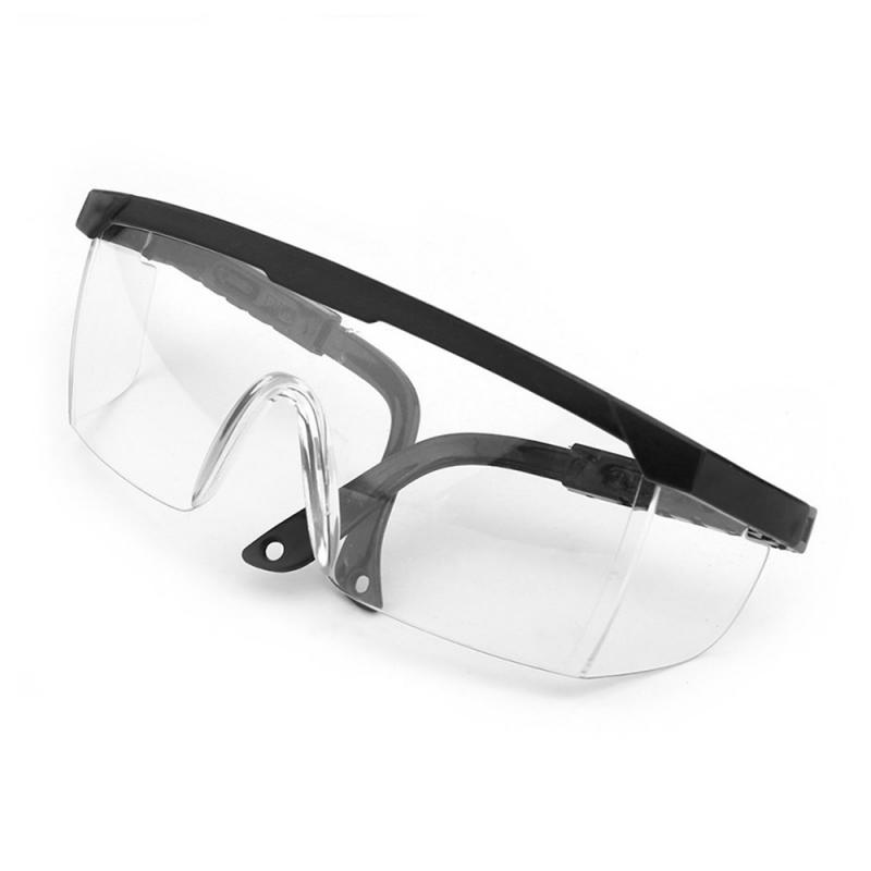 Foldable Adjustable Anti- Safety Goggles Anti-Sneeze Liquid Eye Protection Anti-Droplets Windproof Lab Glasses Clear Lens