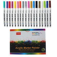 18 kolorów 0.7mm akrylowy Marker do malowania Pen do ceramicznego szkła rockowego kubek porcelanowy tkanina z drewna obraz na płótnie