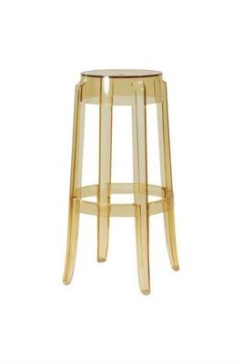 Nordic Transparent Acrylic Bar Stool Crystal High Stool Fashion Round Stool Modern Simple Plastic Bar Chair