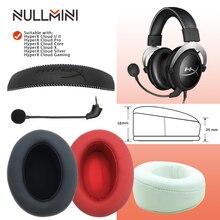 NullMini استبدال وسادات الأذن ل HyperX سحابة I/ II ، سحابة الأساسية ، سحابة الفضة ، سحابة ألفا ، سحابة برو ، سحابة X ، سحابة سماعة الألعاب